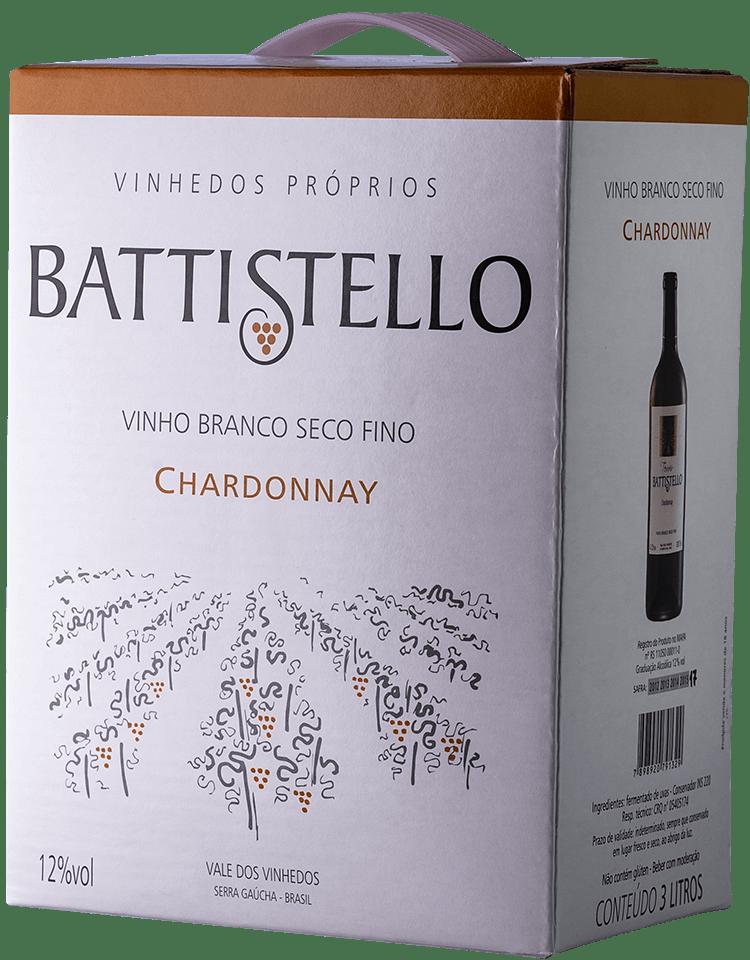 Vinho Battistello Chardonnay Branco Bag In Box 3Lts