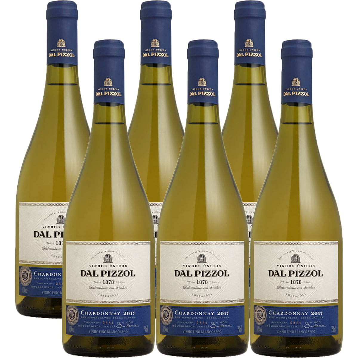 Vinho Dal Pizzol Chardonnay Branco 750ml Combo C/6