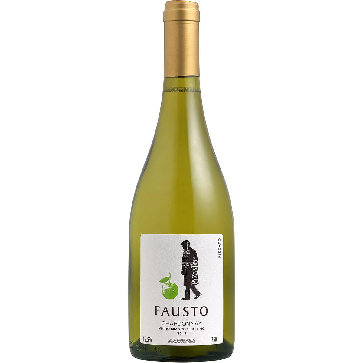 Vinho Fausto Chardonnay Branco Seco 750ml