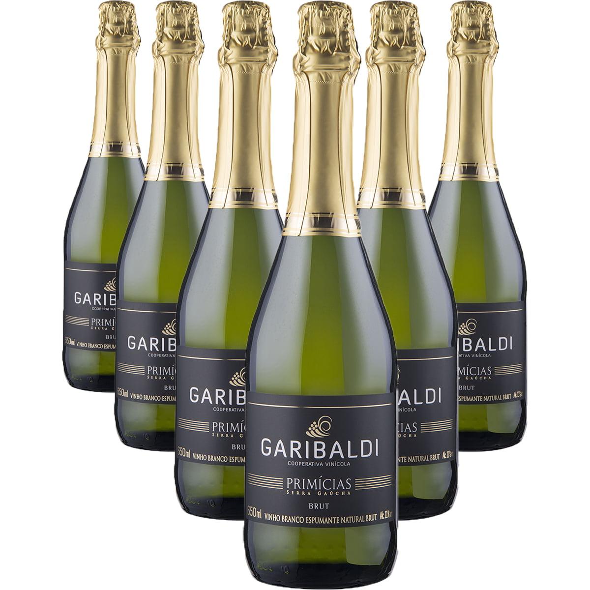 Espumante Garibaldi Primícias Brut 660ml Combo C/6