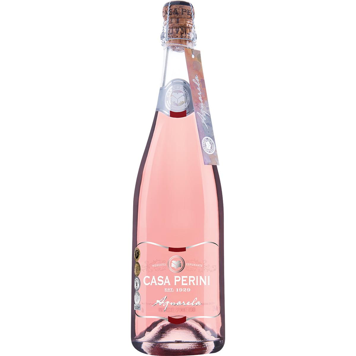 Espumante Casa Perini Aquarela Moscatel Rosé 750ml