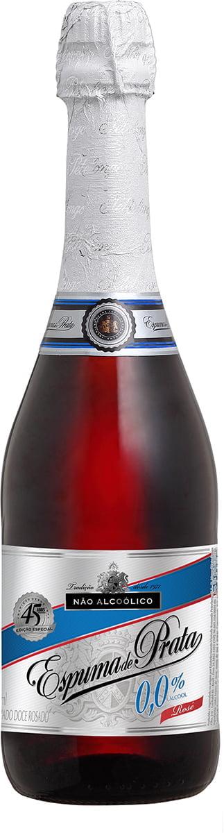 Filtrado Doce Peterlongo Espuma de Prata Rosé Sem Álcool 660ml