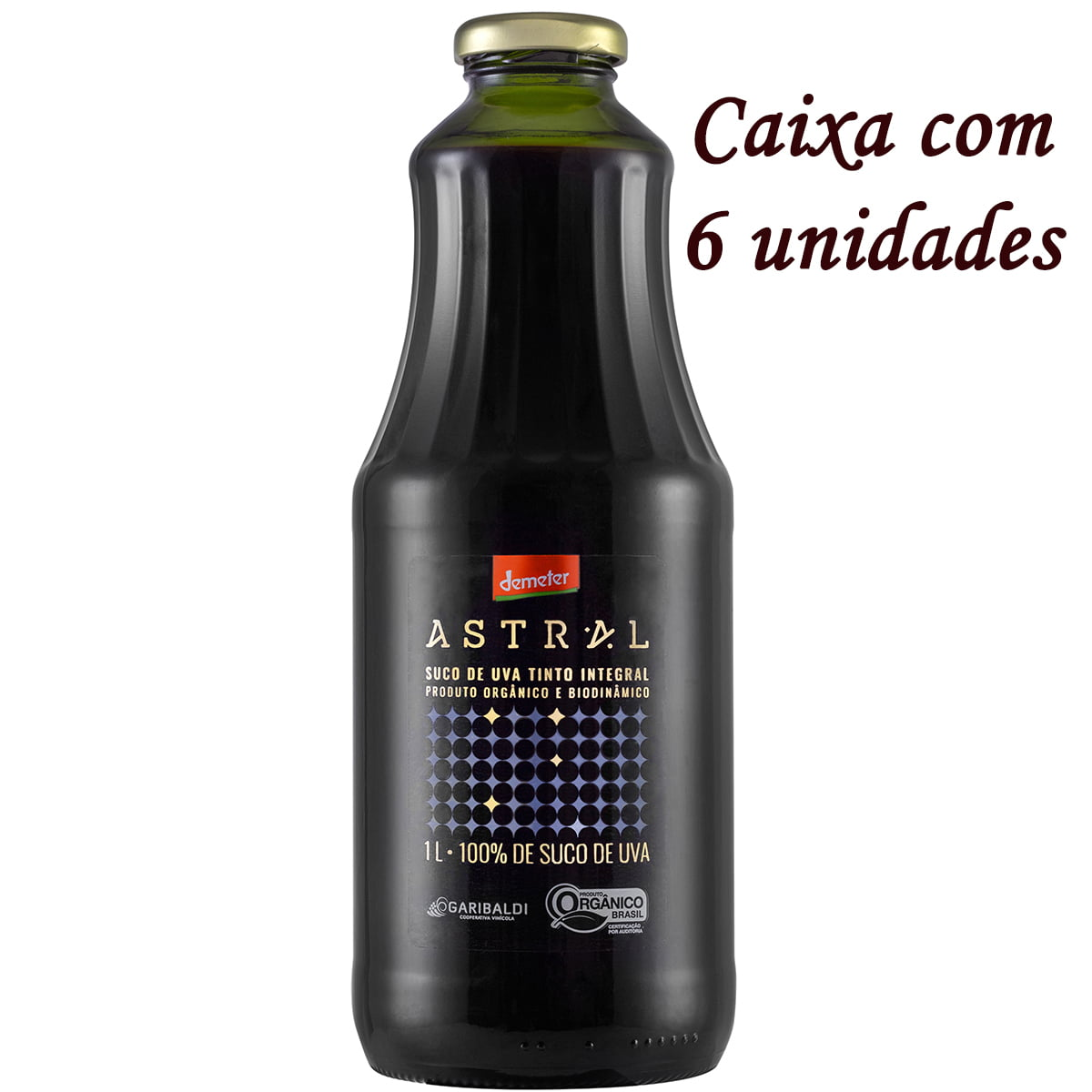Suco de Uva Garibaldi Astral Orgânico/Biodinâmico 1Lt C/6