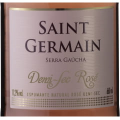 Combo Espumante Aurora Saint Germain Demi-Sec Rosé 660ml C/6