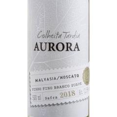 Vinho Aurora Colheita Tardia Malvasia/Moscato Branco Suave 500ml Combo c/12