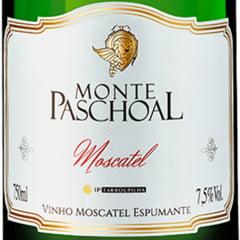 Kit Espumante Monte Paschoal Moscatel Branco 750ml C/2 Taças