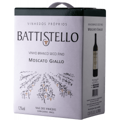 Vinho Battistello Moscato Giallo Branco Bag In Box 3Lts