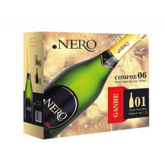 Kit Espumante Ponto Nero Brut 750ml c/6 + Brinde