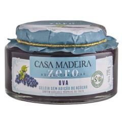 Geleia Zero Açúcar Casa Madeira Uva 220g