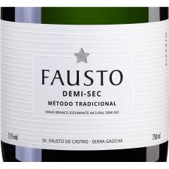 Espumante Fausto Demi-sec Tradicional Branco 750ml