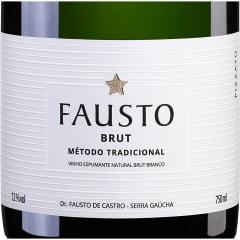 Espumante Fausto Brut Tradicional Branco 750ml C/6