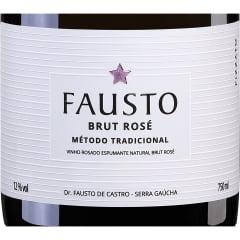 Espumante Fausto Brut Tradicional Rosé 750ml C/6