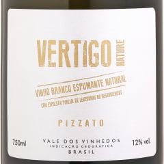 Espumante Pizzato Vertigo Nature Brut Tradicional Branco 750ml