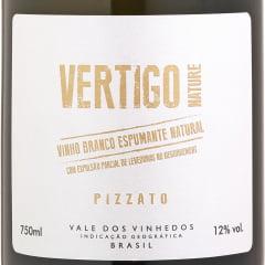 Espumante Pizzato Vertigo Nature Brut Tradicional Branco 750ml C/6