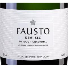 Espumante Fausto Demi-sec Tradicional Branco 750ml C/6