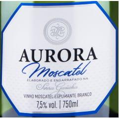 Combo Espumante Aurora Moscatel Branco 750ml C/6
