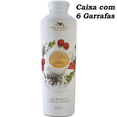 Chá Branco c/Lichia e Jasmim Libertea Casa Madeira 500ml C/6