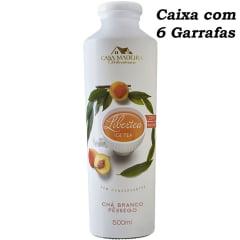 Chá Branco c/Pêssego Libertea Casa Madeira 500ml C/6