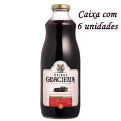Suco de Uva Moinho Graciema Tinto Integral 1Litro C/6