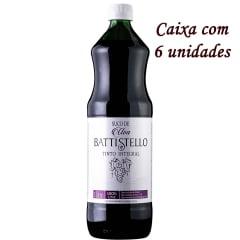 Suco de Uva Battistello Tinto Integral 1 Litro C/6