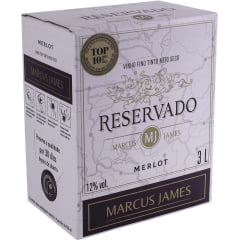 Vinho Aurora Marcus James Merlot Tinto Demi-Sec Bag In Box 3 Lts