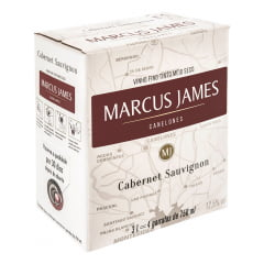 Vinho Aurora Marcus James Cabernet Sauvignon Tinto Demi-Sec Bag In Box 3 Lts