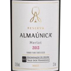 Vinho Almaúnica Reserva Merlot D.O. Tinto 375ml