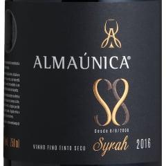 Vinho Almaúnica Ultra Premium Syrah S8 Safra 2018 Tinto 750ml