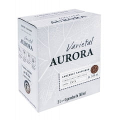 Vinho Aurora Varietal Cabernet Sauvignon Tinto Bag in Box 3 Lts