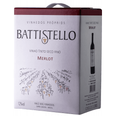 Vinho Battistello Merlot Tinto Bag In Box 3Lts