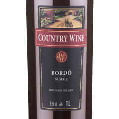 Vinho Aurora Country Wine Bordô Suave 1Lt