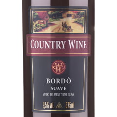 Vinho Aurora Country Wine Bordô Suave 375ml