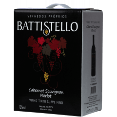 Vinho Battistello Cabernet Sauvignon/Merlot Suave Bag In Box 3Lts