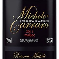 Vinho Michele Carraro Malbec Tinto Demi-Sec 750ml