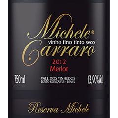 Vinho Michele Carraro Merlot Tinto Seco 750ml