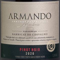 Vinho Peterlongo Armando Memória Safra 2020 Pinot Noir Tinto Seco 750ml - COMPRE 2 LEVE 3