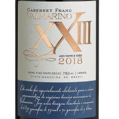 Vinho Valmarino XXIII Cabernet Franc Safra 2018 Tinto 750ml