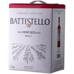 Vinho Battistello Merlot Rosé Bag In Box 3Lts