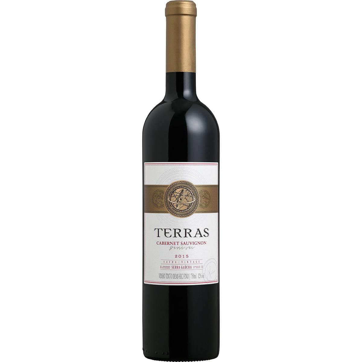Vinho Peterlongo Terras Cabernet Sauvignon Tinto Demi-Sec 750ml