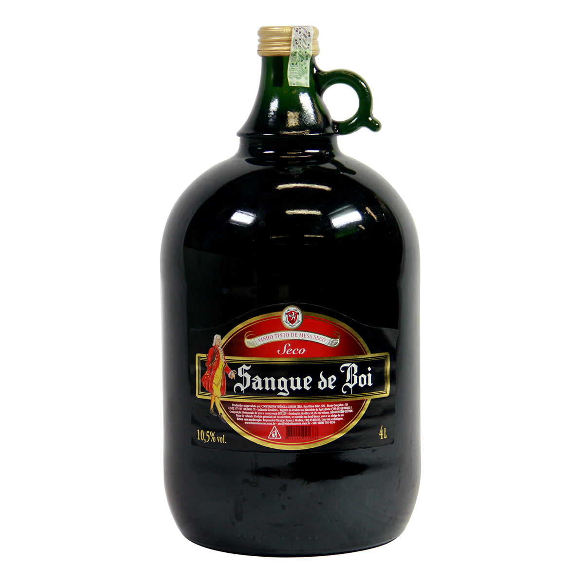 Vinho Aurora Sangue de Boi Tinto Seco 4 Lts