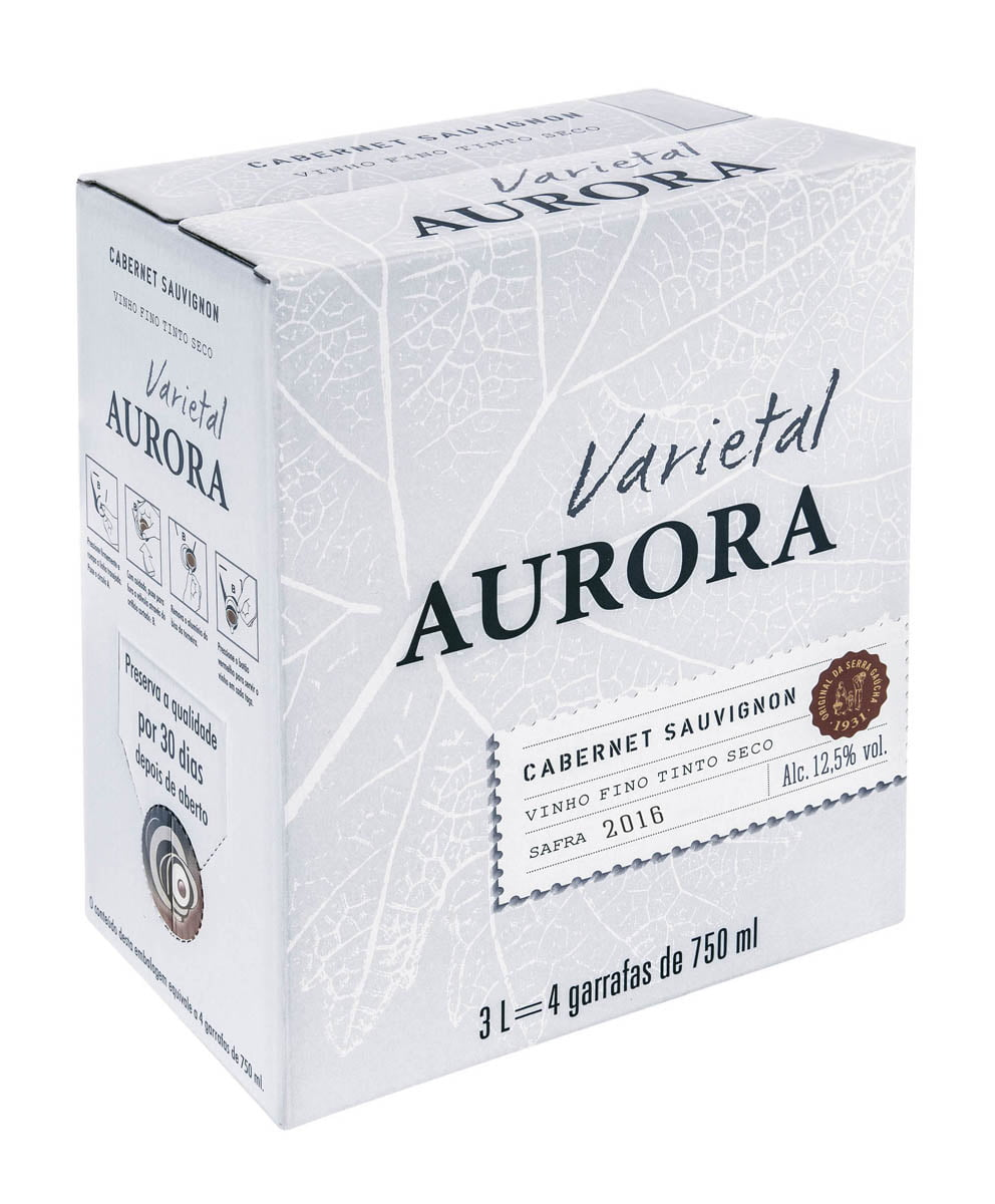Vinho Aurora Varietal Cabernet Sauvignon Bag in Box 3 Lts