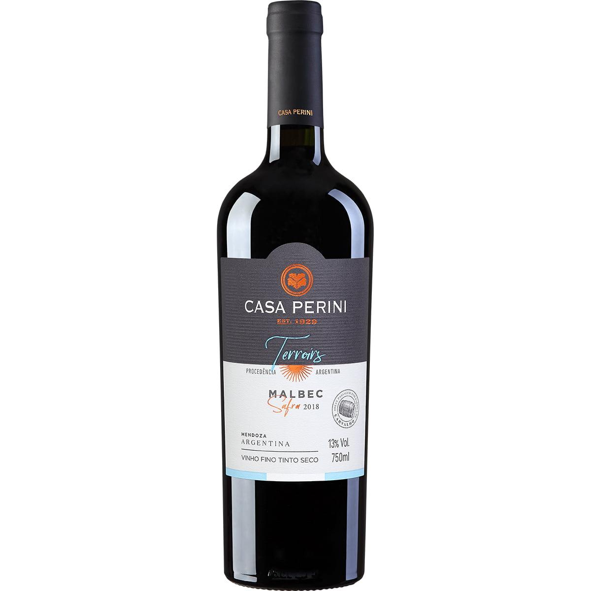 Vinho Casa Perini Terroirs Malbec Tinto 750ml