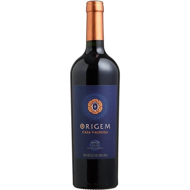 Vinho Casa Valduga Origem Merlot Tinto Seco 750ml