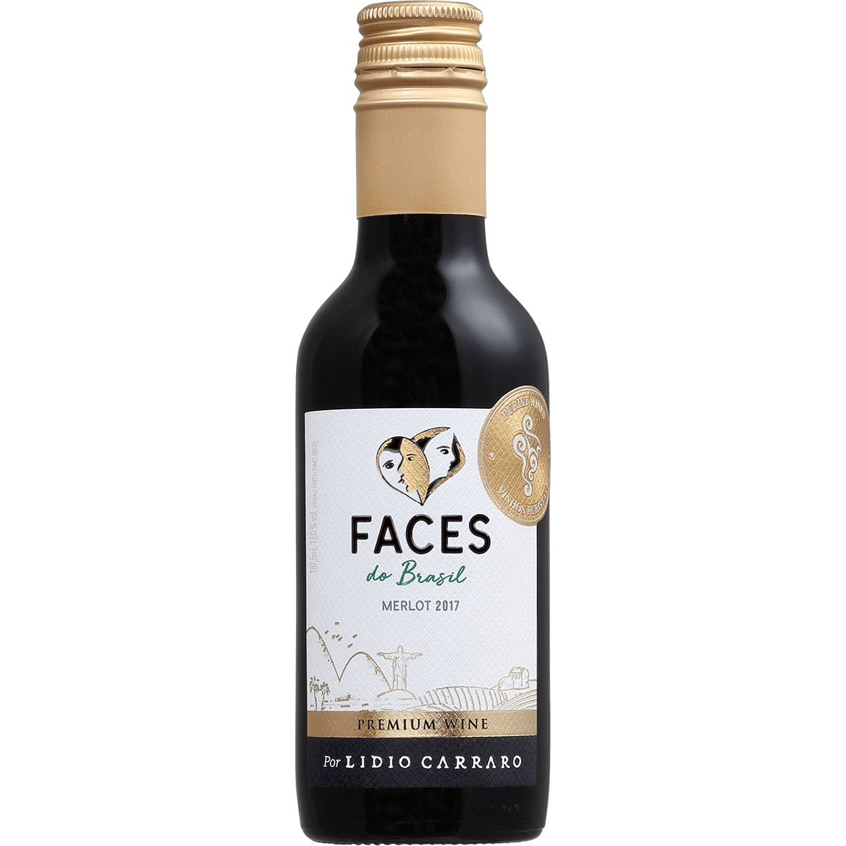 Vinho Lidio Carraro Faces do Brasil Merlot Tinto 187,5ml