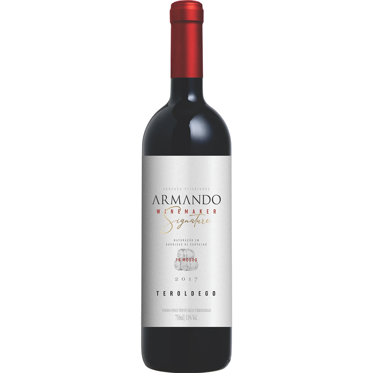 Vinho Peterlongo Armando Winemaker Signature Teroldego Tinto Seco 750ml