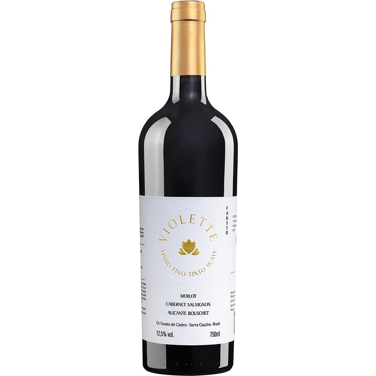 Vinho Pizzato Fausto Violette Tinto Suave 750ml