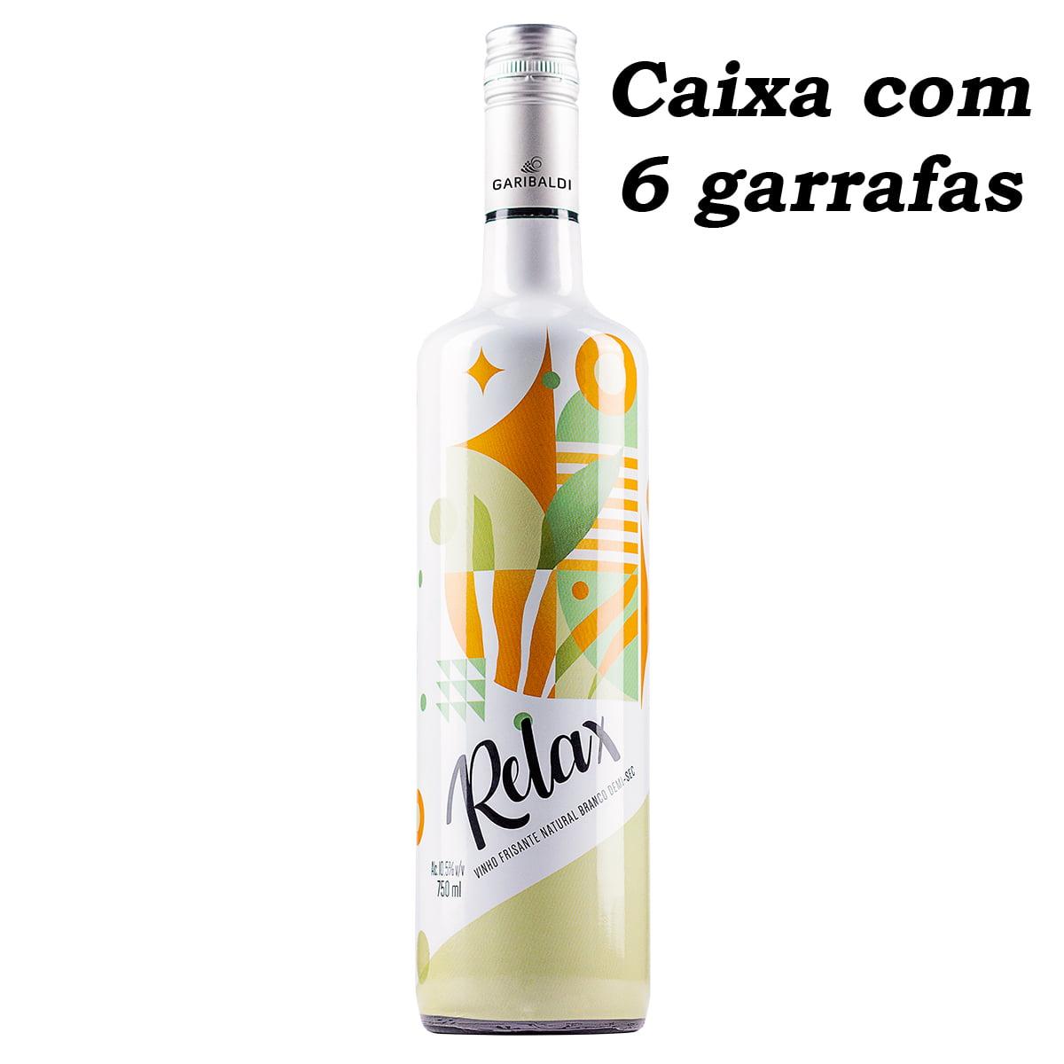 Vinho Garibaldi Relax Frisante Branco Demi-Sec 750ml C/6