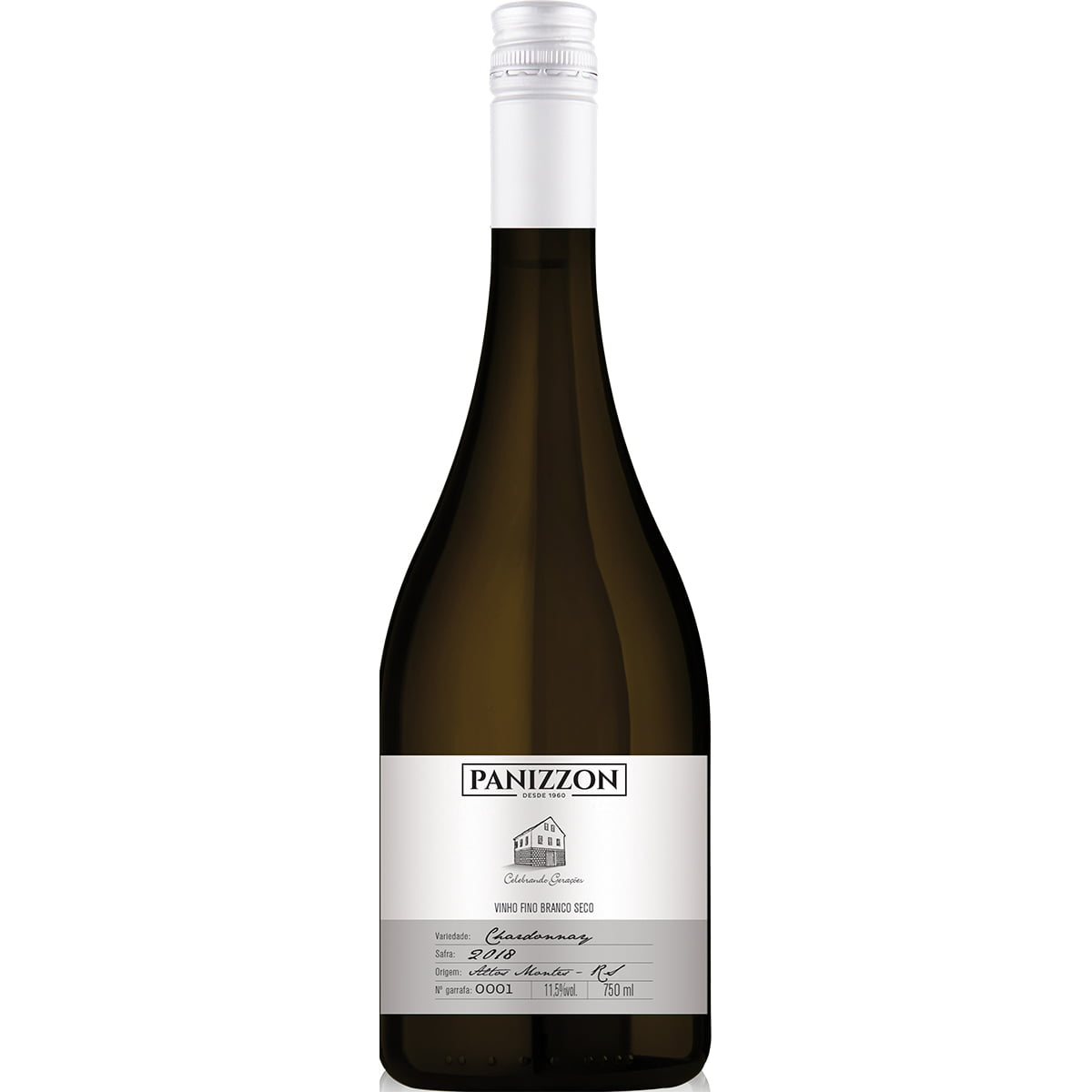 Vinho Panizzon Chardonnay Branco Seco 750ml