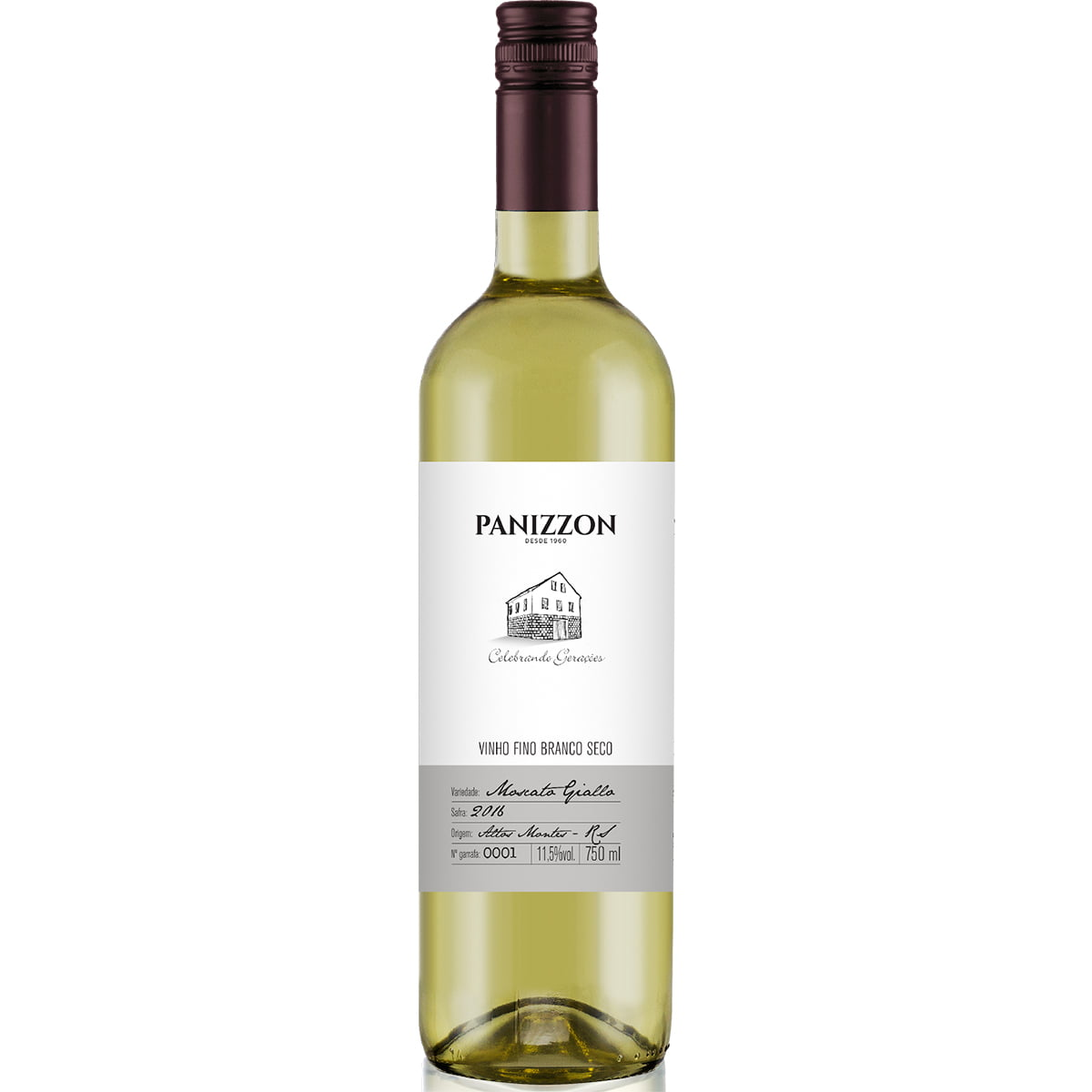 Vinho Panizzon Moscato Giallo Branco Seco 750ml