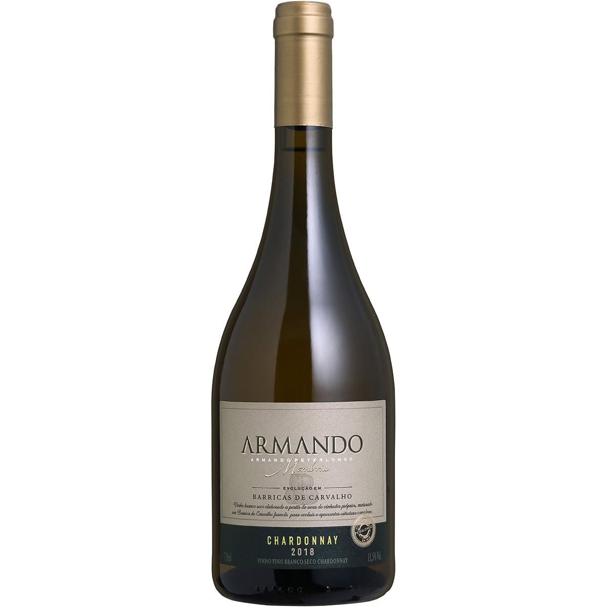 Vinho Peterlongo Armando Memória Chardonnay Branco Seco 750ml